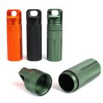 Outdoor CNC Waterproof Pill Storage Case EDC Seal Canister Survival Emergency Container
