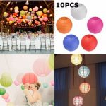 10pcs 20cm Colorful Paper Lantern for Christmas Wedding Party Home Decoration