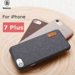 Baseus Woven Fabric Grain Soft PC Full Coverage Protection Case For iPhone 7 Plus 5.5 Inch
