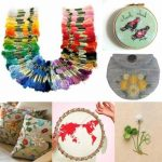 8m 100 Different Colors Cross-stitch Thread DIY Handcraft Embroidery Knitting Thread