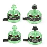 4X Racerstar Racing Edition 2205 BR2205 2600KV 2-4S Brushless Motor Green For 210 X220 250 280