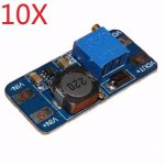 10X DC Boost Converter 2A Power Supply Module 2V-24V To 5V-28V Adjustable Regulator Board