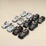 12xHZ Pull Back Racing Car Toys with Light Police Car Color Random