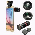 4 in 1 10x Zoom Telephoto Fish Eye Wide Angle Micro Clip Lens For iPhone 6S Samsung S6