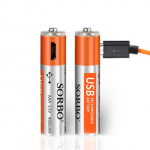 2PCS SORBO 1.5V 400mAh Rechargeable AAA Battery with 4 In 1 Charger Cable