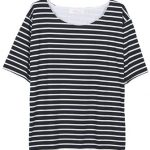 Loose Casual Women Short Sleeve Striped Cotton T-Shirt