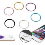 Metal Round Home Key Protector Ring Sticker Touch ID Button For Apple iPhone 6S Plus