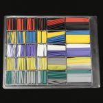500PCS Halogen-Free 2:1 Heat Shrink Tubing Wire Cable Sleeving Wrap Wire Kit φ1.0/3.0/4.0/6.0/8.0/12.0mm Internal Diameter