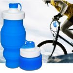 530ML Portable Silicone Retractable Folding Soft Water Cup Outdoor Fishing Travel Camping Bottle