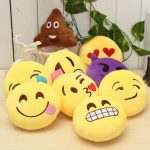 "5.9"" 15cm Emoji Smiley Emoticon Stuffed Plush Soft Toy Round Cushion Ornament Decor Gift"