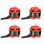 4 X Racerstar Racing Edition 1104 BR1104 6500KV 1-2S Brushless Motor for 100 120 150 RC Multirotor