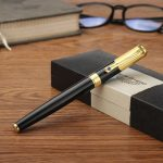 Black Hero 78 0.5mm Fine Clear Shape Calligraphy Fountain Pen With Black Box