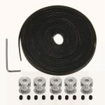 5M GT2 Timing Belt With 16T GT2 Timing Pulley For 3D Printer RepRap Prusa