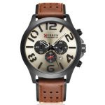 Curren 8244 Casual Men Sport Watch Fashion Date Display Student Leather Quartz Watch