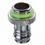 Barb Fitting Water Cooling Radiator For 3/8 Inch ID G1/4 Chromed