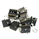 10Pcs 3.5mm Headphone Stereo Jack PCB Panel Mount Chassis Socket
