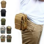 Men Tactical Waterproof Nylon Crossbody Bag Multifunction Outdoor Camouflage Cell Phone Pocket