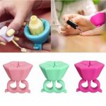 3 Colors Wearable Silicone Nail Polish Bottle Holder Round Varnish Display Stand