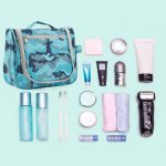 Portable Toiletry Camouflage Bags Hook Travel Organizer Handbags Foldable Cosmetic Lightweight Bags