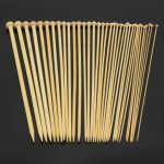 36pcs 18 Sizes Bamboo Single-head Knitting Needles Hat Sweater Scarf Crochet Hooks