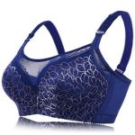 Plus Size D Cup Gold Wire Embroidery Brassiere Mesh Anti-emptied Push Up Adjusted Bra For Women