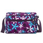 Women Nylon Flower Design Crossbody Bags Outdoor Light Shoulder Bags Messenger Bags
