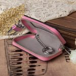 Genuine Leather Car Key Holder Hanging Portable Keychain Covers Pouch Purse