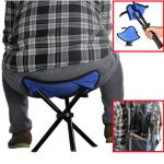 22x 22x31CM Outdoor Hiking Fishing Folding Stool Portable Triangle Chair Maximum Load 100KG