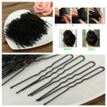 300Pcs Black Waved Bobby Pins Hair Grips Clips Clamps Salon Styling