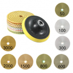 9pcs 4 Inch 50-3000 Grit Diamond Polishing Pads Set with Self-Adhesive Disc Polishing Tool