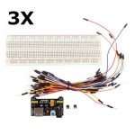 3Pcs Geekcreit MB-102 MB102 Solderless Breadboard Power Supply Jumper Cable Kits For Arduino