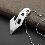 Stainless Steel EDC Multifunction Cutting Twine Knife Screwdriver Opener Camping Tools