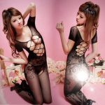 Sexy Coveralls Bodystocking Hot Costumes Hollow Open Bust Crotchless Erotic Lingerie