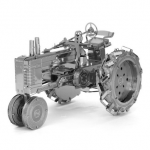 Aipin DIY 3D Puzzle Stainless Steel Model Kit Tractor Silver Color