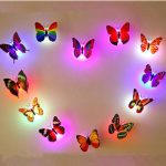6PCS Honana Colors Changing LED Flashing Butterfly Night Light Decorative Lights 3D Stickers