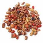 100Pcs Mixed Color Wooden Beads Round Tube Rice Beads