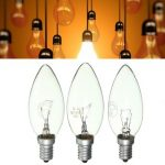 E14 15W/25W/40W Warm White Vintage Edison Incandescent Candle Light Lamp Bulb AC220V