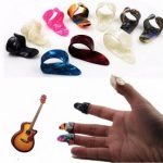 Guitar Plastic Nail Picks Plectrums 3 Finger Picks 1 Thumb Picks Plectrums