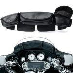 3 Pouch Pocket Windshield Bag Fairing For Harley Electra Street Glide Touring
