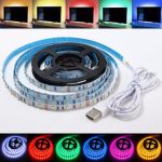 1M Non-Waterproof USB SMD3528 TV Background Computer LED Strip Tape Flexible Light DC5V