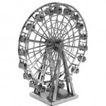 Aipin DIY 3D Puzzle Stainless Steel Model Kit Ferris Wheel Silver Color