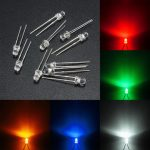 10pcs 3mm 5 Color Water Clear Round LED Diodes Assortment DIY Lamp