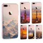 Ultra Slim Soft Translucent Landscape Scenery Painting Silicon Case Back Cover For iPhone 7 Plus