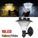 LED Solar Wall Lights Garden Courtyard Outdoor Landscape Path Lamp