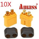 10 Pair Amass XT60 Plug Connector With Sheath Housing Male Female