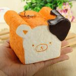 Squishy Toy 8 Seconds Slow Rising Super Soft Cute Fragrance Reality Touch Bear Toast Bread Decor