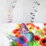 18 Pieces 3D Butterfly Crystal Transparent Decor Wall Sticker Home Wall Wedding Party Decoration