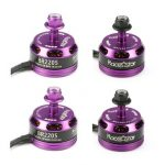 4X Racerstar Racing Edition 2205 BR2205 2300KV 2-4S Brushless Motor Purple For 210 X220 FPV Racing