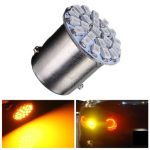 1pc Yellow/Amber P21W 1156 22-SMD LED Car Tail Turn Signal Lamp Bulb