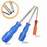 3pcs Screwdriver Security Bit Tool for Gamecube Nintendo Nes Snes N64 Gameboy